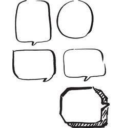 set of frames hand drawn vector image vector image