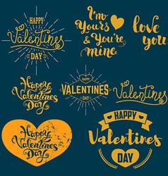Set of valentines day badges vector image
