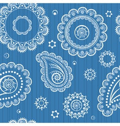 Abstract seamless background of retro flowers vector image vector image