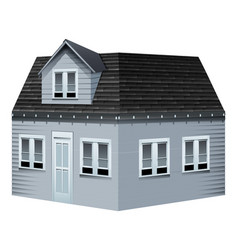 architecture design for gray house vector image