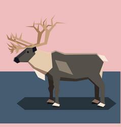 flat design reindeer vector image