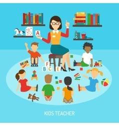 Kids Teacher Poster vector image