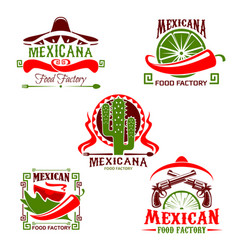 mexican cuisine restaurant icon fast food design vector image vector image