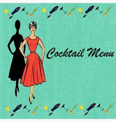 Retro Cocktails vector image vector image