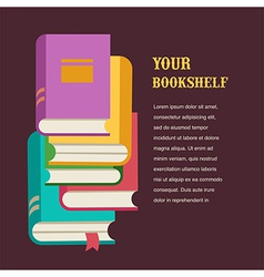 Stack of books concept design vector