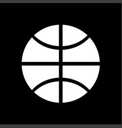 basketball ball white color icon vector image
