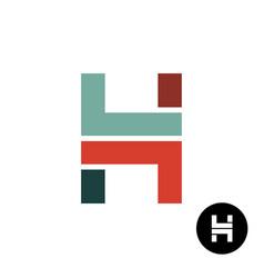 letter h industrial style logo design vector image