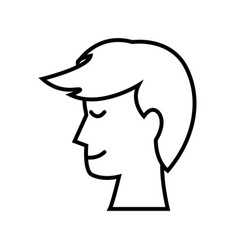 profile head man smile people image outline vector image