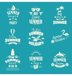 Summer emblem set vector image