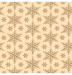 vintage snowflakes background vector image vector image