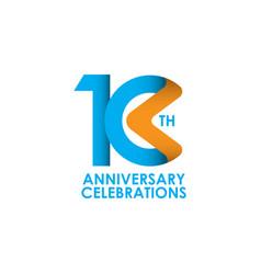 10 years anniversary celebrating template design vector