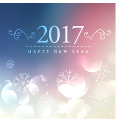 2017 happy new year background with bokeh effect vector image