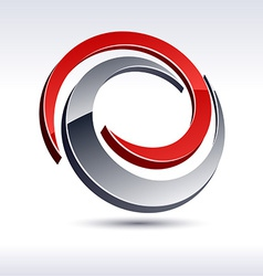 Abstract 3d swirl icon vector