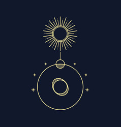 Abstract constellation line art vector