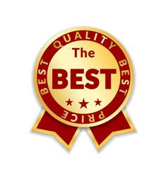 Award ribbon best vector
