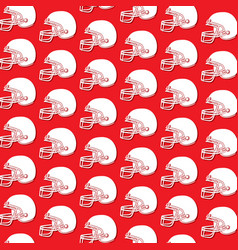 background pattern with american football helmet vector image
