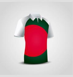bangladesh flag shirt design vector image