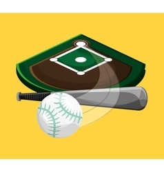 baseball related icons image vector image