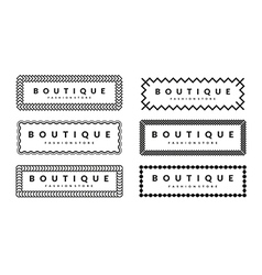 Beautiful Creative Borders Design Template Set For vector
