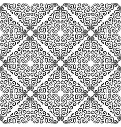 Black curly graphic pattern on white background vector