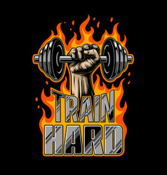 Bodybuilding motivation poster vector