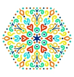 Bright Hexagon Ornament vector