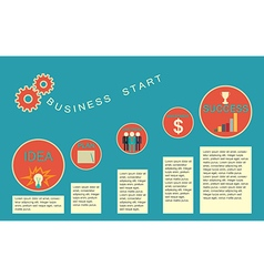 Business start infographics template vector image