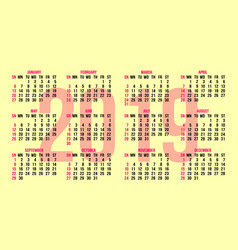 calendar grid for the back side of a business card vector image