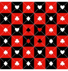 Card Suits Red Black Chess Board Diamond vector