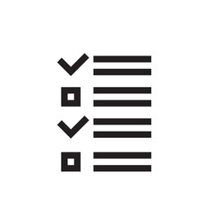 checklist - black icon on white background vector image