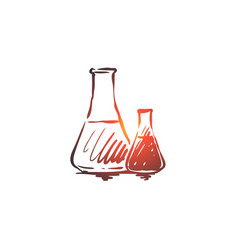chemistry flask science laboratory glass vector image