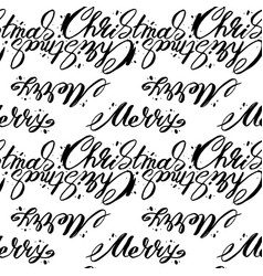 Christmas words seamless pattern merry christmas vector