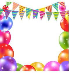 colorful balloon card vector image