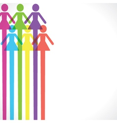 Colorful woman icon background vector image