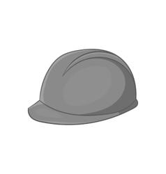 Construction helmet icon black monochrome style vector