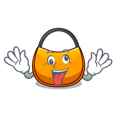 Crazy hobo bag shape on a cartoon vector