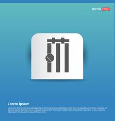 Cricket bails icon - blue sticker button vector