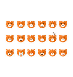 Cute cat emoticons set funny kitten emoji with vector