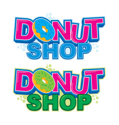 Donut shop logo vector