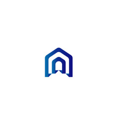 door logo for home or real estate letter a or d vector image