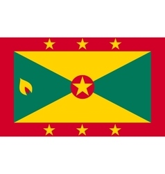 Flag of Grenada in correct size and colors vector image