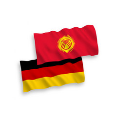 Flags kyrgyzstan and germany on a white vector