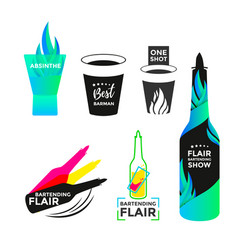 Flair bartending icon vector