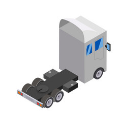 Flat design isometric tractor unit truck car vector