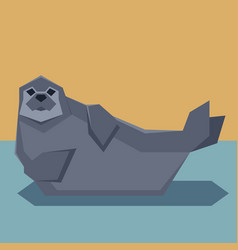 flat design seal vector image