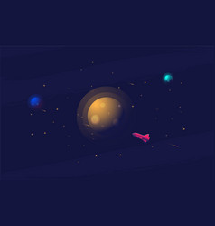 flat space design background cute template vector image