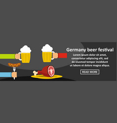 germany beer festival banner horizontal concept vector image