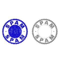 grunge spam textured watermarks vector image