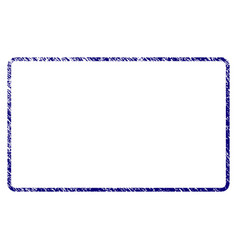 Grunge textured rounded rectangle frame vector