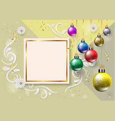 happy new year and merry chritmas color christmas vector image